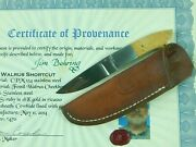 Custom Made Handmade By Don Cowles Knife And Sheath Certificate
