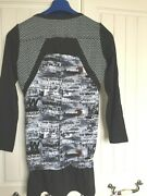 Immac Con Worn Once Designer Tunic Top Cost Andpound90 Black And White Pattern Size 12