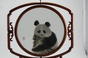 Chinese Antique Embroidery Art Museum Double Sided Panda