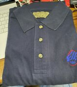Elks Bpoe Xl Navy Sort Sleeve Polo Shirt With Embroidered Elks Usa Logo