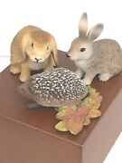 Schleich Lot Of 3 2 Rabbits And A Hedgehog