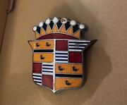 1948/1949 Cadillac Hood/trunk Crest Emblem Ornament Good Condition For Age.