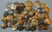 Misc Mixed Lot 45 Pcs Vintage Sewing Buttons Sail Boat Nautical Navy Anchor