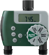Orbit Programmable Hose Water Timer 2-outlet Durable Weatherproof Fast Install
