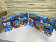 2 Hot Wheels Energy Track Sets Power Loops Playset With Gold Cars New Hotwheels