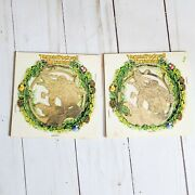 2 1982 Mcdonalds Norman Rockwell Limited Edition Christmas Ornaments Coca Cola