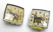 Lot Of 2 American Style Animated Happy Days Beer Prohibition Drinker Alarm Clock