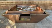 30 Copper Cladded Pool Builders Series Waterfall Fire Pit Water Bowl Spillway