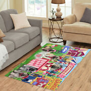 Personalized Carnival Kissing Booth Keeshond Dogs Area Rugs Mats