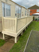 Static Caravan Upvc Plastic Diy Deck Kit 24ftx4ft With Steps - New - Easy To Fit