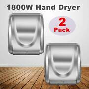 1800w Automatic Comercial Electric Hand Dryer Highspeed Bathroom Restroom 2pack