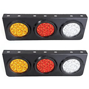 Toppower Led Truck/trailer Tail Lights With Iron Bracket Base - Waterproof Tail