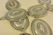 Signed 19+ozt Old, Heavy And Thick Navajo Concho Belt Cast Sterling Silver Buckle