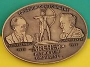 Belt Buckle - Archer Petroleum - To Honor Founders - 1929-1989 - Limited Edition