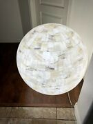 Sphere Stone Table Lamp Onyx Round Ball Globe Handcarved 32