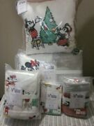 Pottery Barn Kids Teen Disney Holiday Mickey Mouse Quilt Flannel Twin Xl Sheet