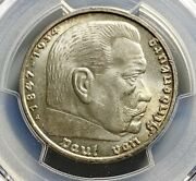 1939 A Germany Third Reich 5 Mark Silver Coin - Pcgs Ms 64