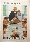 1943 Ours To Fight For Freedom From Want Norman Rockwell Poster 27.75 X 20
