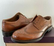 Menand039s Johnston And Murphy Tabor Wingtip Leather Oxfords 20-1862 Tan