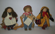 3 Lizzie High Dolls 1986 Christopher High - Sally And Nancy Bowman W/ Tags