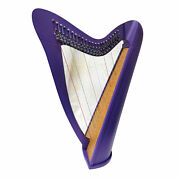 22 Strings Lever Harp Round Back Rosewood Purple Color Extra Strings Set Key