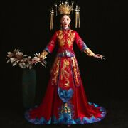 High-quality Chinese Traditional Wedding Dress Banquet Oriental China Qipao