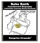 Babe Ruth Baseball Card Sports Trading Card Notebook Author Autographed