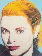 Andy Warhol Estate Rare Vtg 1989 Collectorand039s Lithograph Print Grace Kelly 1984