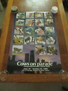 1999 Chicago Cows On Parade Commemorative Poster Unframed 1