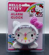 Sealed Sanrio Hello Kitty Battery Operated Alarm Clock 2011 Cat Pink Bow Nos