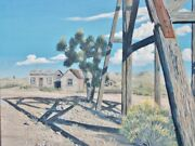 Old Ghost Town Goldfield Nevada Realistic Original Painting By Irene Livermore
