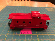 Lionel Lines Train Darker Red 6057 Caboose W/all Steps And Diecast Trucks Lot D