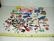 Misc. Lot Of Old Vintage Die Cast And Plastic Toy Car And Truck Parts And Pieces