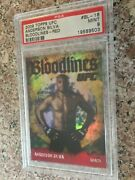 2009 Topps Ufc Round 2 Ruby Red Bloodlines - Anderson Silva 4/8 - Psa 9 Goat
