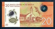 Nicaragua Unc Note 20 Cordobas 2014 2015 P-217 Uncirculated Polymer