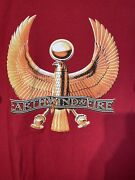 Earth Wind And Fire Cover Art Music Band Tee Shirt Red Concert Tour Size Large