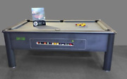 6ft/7ft Supreme Match Coin Operated Slate Bed Pool Table Storm Grey Finish