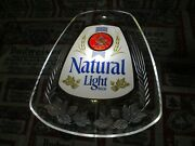New Vtg 1979 Bud Natty Natural Light Beer Led Edge Light Motion Bar Pub Sign Wow