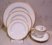 New Noritake Rochelle Gold 4 - 5 Piece Place Settings - 20 Pce Set - New In Box