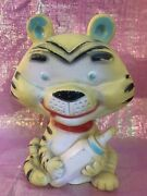 Vintage Alan Jay Squeeze Squeak Rubber Toy Tiger With Baby Bottle 7andrdquo Works