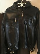 Rare Gianni Versace Womenandrsquos Leather Buckled Jacket