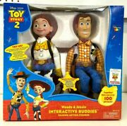Woody And Jessie Interactive Buddies Talking Action Figures From Toy Story 2 New