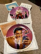 """Elvis Presley Lot Of 2 Delphi Plate W/ Coa """"loving You"""" And Rock And Roll Legend"""