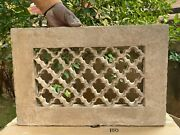 Antique Old Carved Stone Jharokha Indian Heritage Jali Cut Window Wall Panel