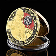 Gold Plated Coin 1944.6.6 America Guard Of Honor Army 82 Airborne Souvenir Coin