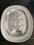 Vintage Wilton Pewter 14 Well And Tree Oval Meat Serving Plattercolumbia, Pa