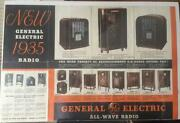 Vintage New 1935 General Electric Radio 36 X 24 Advertising Poster Display G.e.
