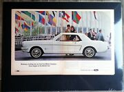 1964 Ford Mustang Original World's Fair Intro Car Ad 289/v8/embelm/decal/shelby/