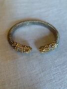 Alwand Vahand Sterling And 14k Yellow Gold And Diamonds Bangle Bracelet