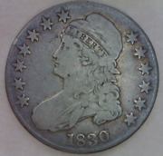 1830 Capped Liberty Draped Bust Half Dollar Fine Quality Type Coin
